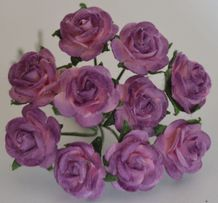 1.5cm LILAC LIGHT PINK Mulberry Paper Roses